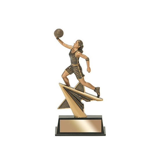 "7"" Star Power Female Basketball Resin"