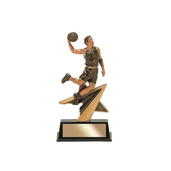 "7"" Star Power Male Basketball Resin"