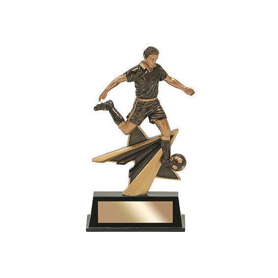 "7"" Star Power Male Soccer Resin"