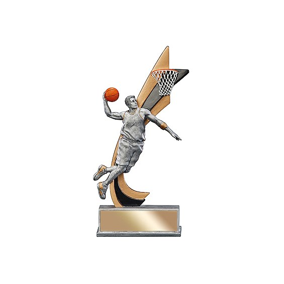 8 in Male Basketball Action Resin