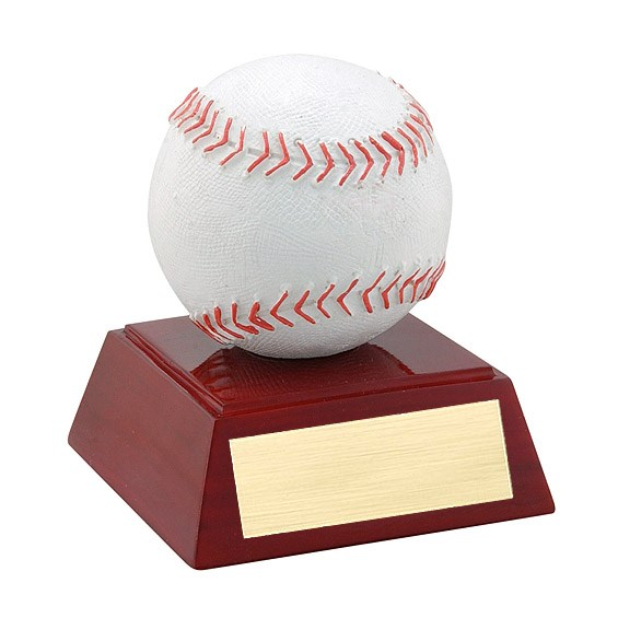 4 in Full Color Baseball Theme Resin