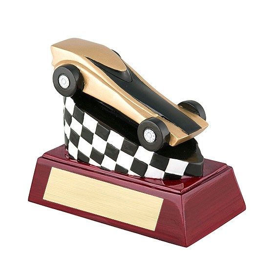 "4"" Full Color Pinewood Derby Theme Resin"
