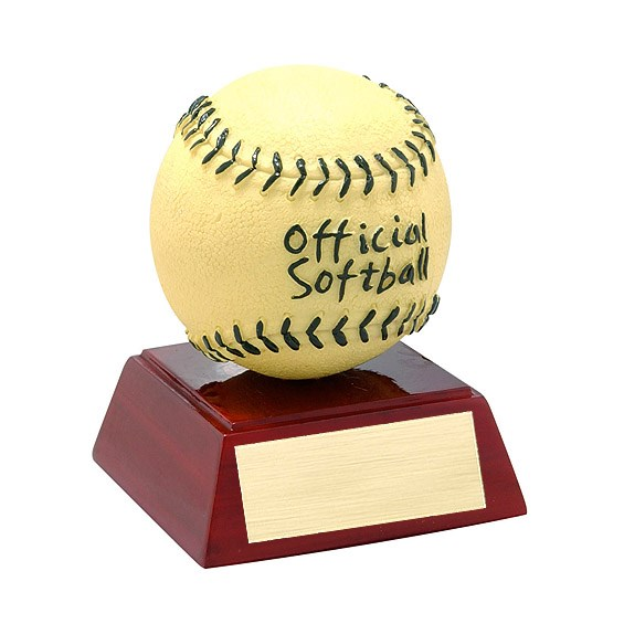 "4"" Full Color Softball Theme Resin"