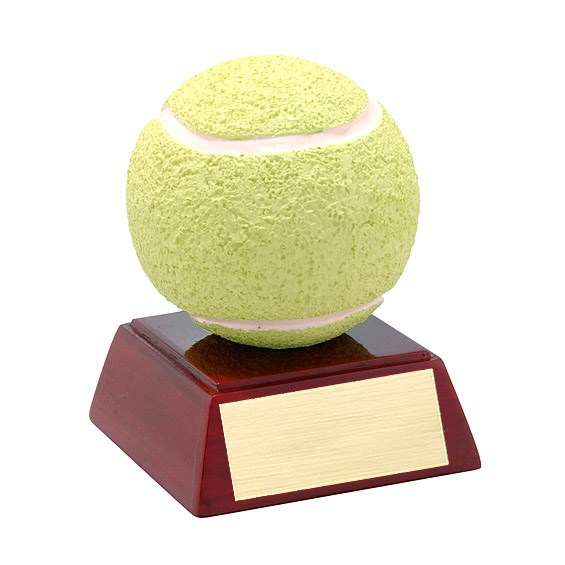 4 in Full Color Tennis Theme Resin