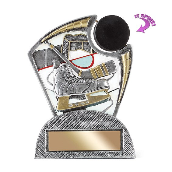 6 in Hockey Resin Trophy w/ Spinning Sports Ball
