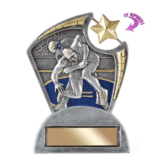 6 in Wrestling Resin Trophy w/ Spinning Star