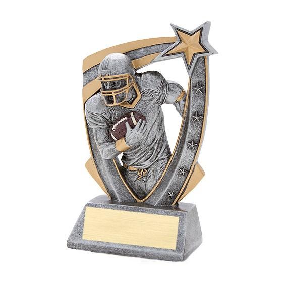 3-D Football Star Resin Trophy