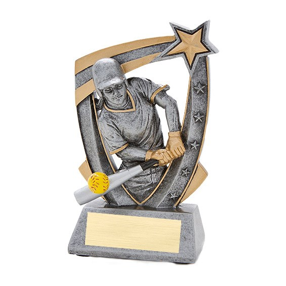 3-D Softball Star Resin Trophy