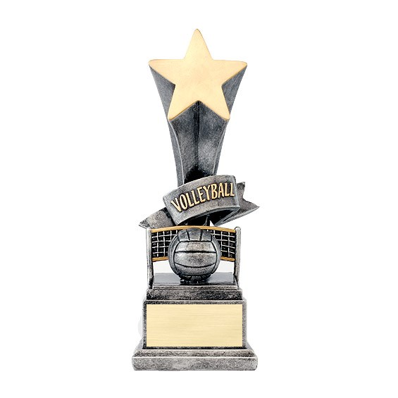 "8"" Volleyball Star Resin Trophy"