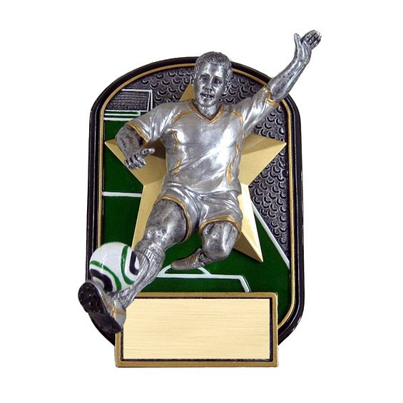 6.5 in Rock n Jox Male Soccer Resin Trophy