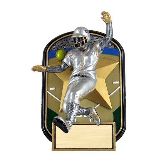 "6.5"" Rock n Jox Softball Resin Trophy"