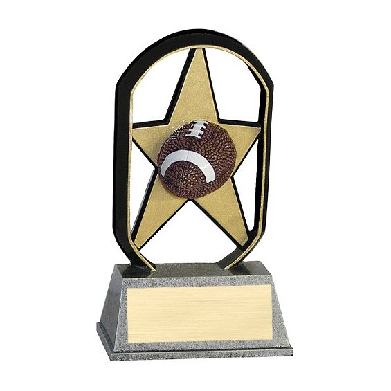 "5"" Ecostarz Football Resin"
