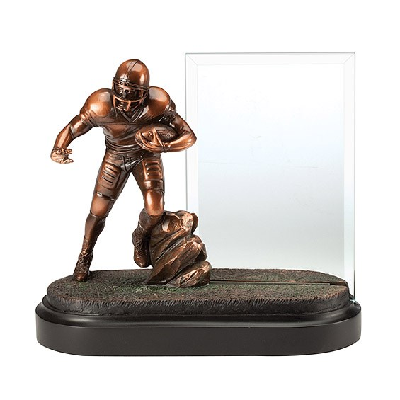 7 in Football Resin w/ 4 in x 6 in Engraving Glass