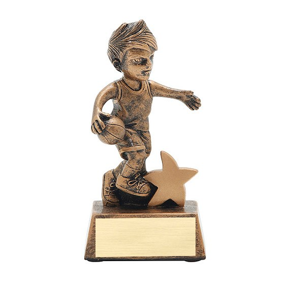 5 in Junior Star Male Basketball Resin