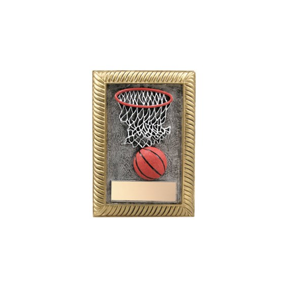 "5"" x 7"" Basketball Resin Plaque"