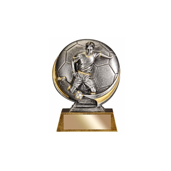 Male 5 in 3D Resin Soccer Trophy