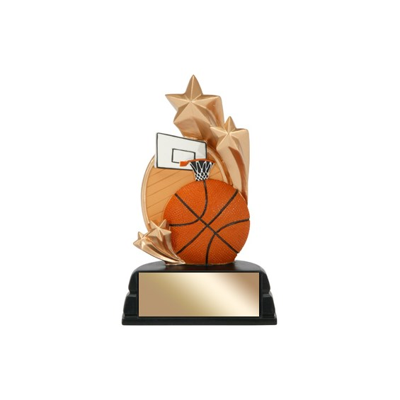 "6"" Basketball Trophy Star Series"