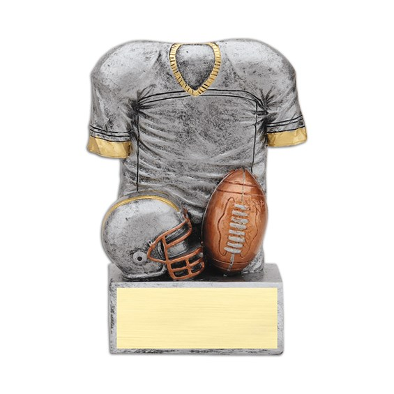 4-1/2 in Resin Jersey Football Trophy