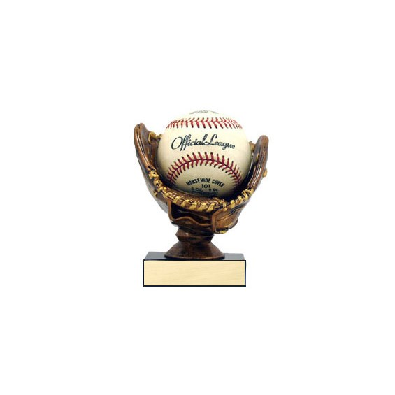 "4-3/4"" Baseball Holder Trophy - Bronze"