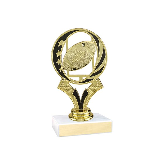 "5-3/4"" Midnite Star Football Trophy"