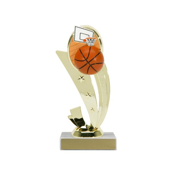 7-1/4 in Color Basketball Trophy