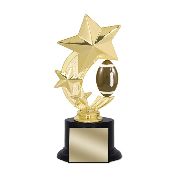 "7"" Football Trophy with Round Black Base"