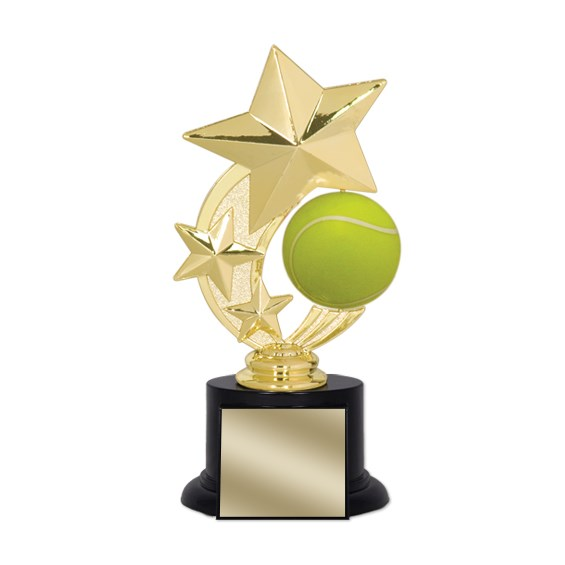 "7"" Tennis Trophy with Round Black Base"