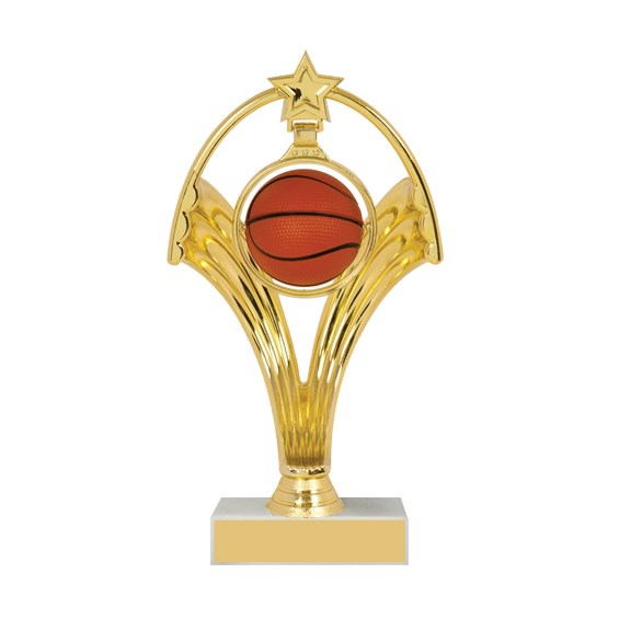 "7 3/4"" Swinging Figure Basketball Trophy"