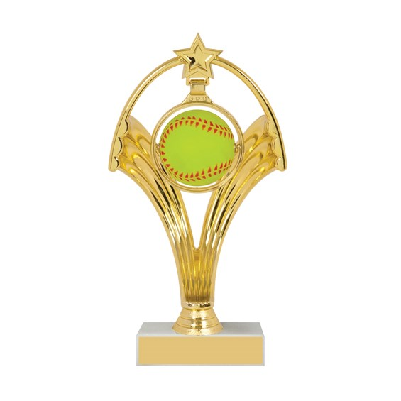 "7 3/4"" Swinging Figure Softball Trophy"
