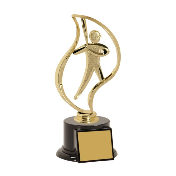 8 in Baseball Trophy with Torch Figurine