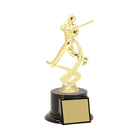 8 in Baseball Trophy w/ Black Base