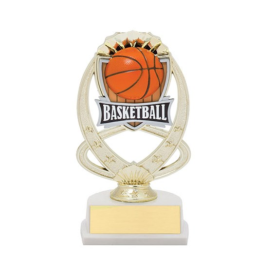 "7.5"" Basketball Theme Trophy"