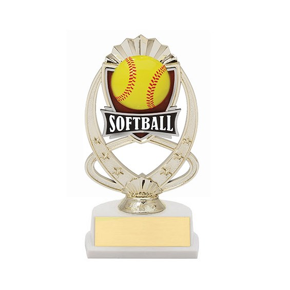"7.5"" Softball Theme Trophy"