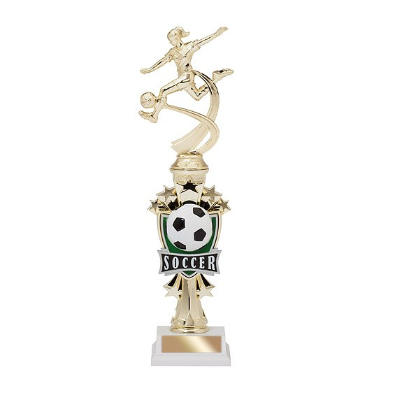 "14"" Allstar Female Soccer Trophy"