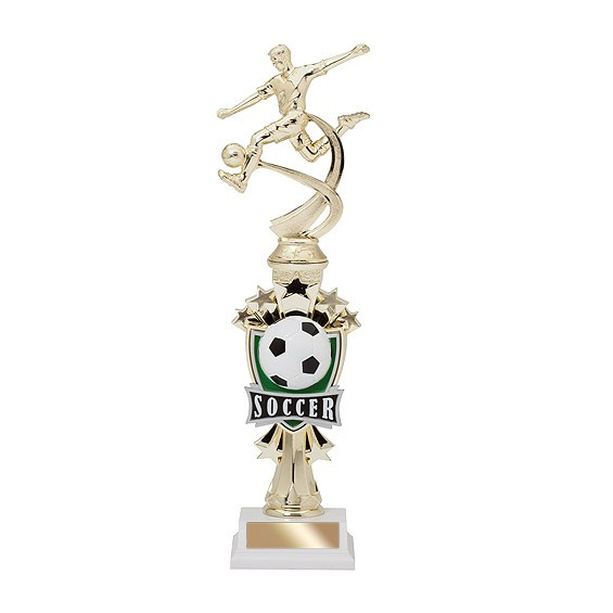 "14"" Allstar Male Soccer Trophy"