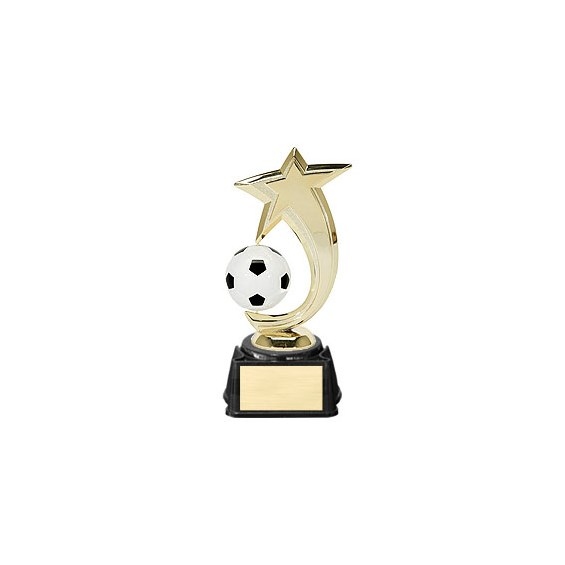 "8"" Soccer Shooting Star Spinner Trophy"