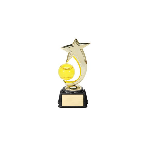 "8"" Softball Shooting Star Spinner Trophy"
