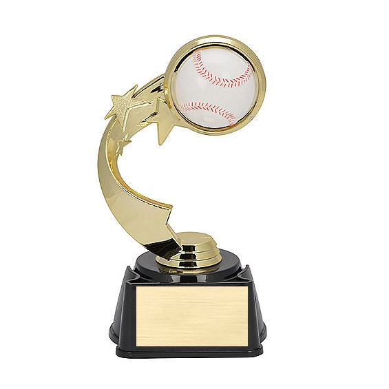 "7"" Ribbon Star Baseball Trophy"