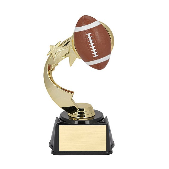 "7"" Ribbon Star Football Trophy"
