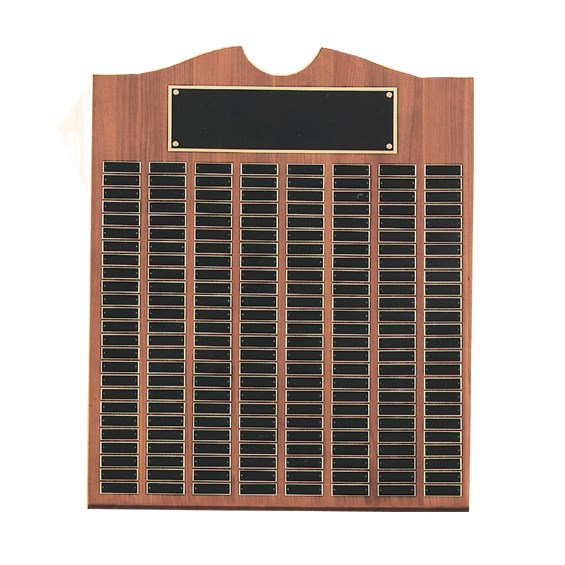 Solid Walnut Perpetual Plaque up to 270 Names