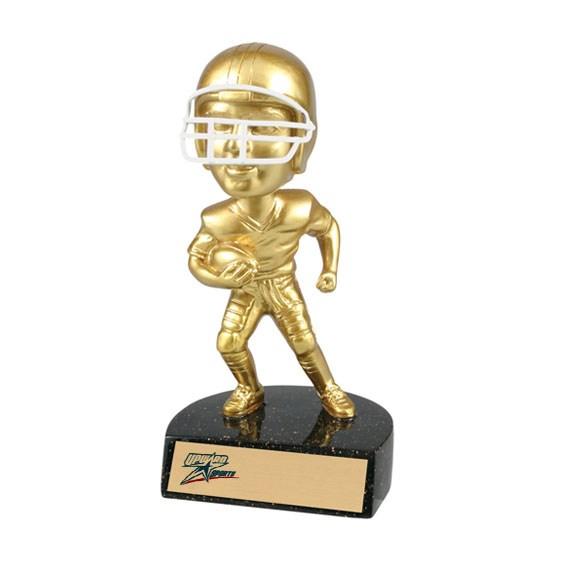 "6"" Resin Football Bobblehead Trophy"