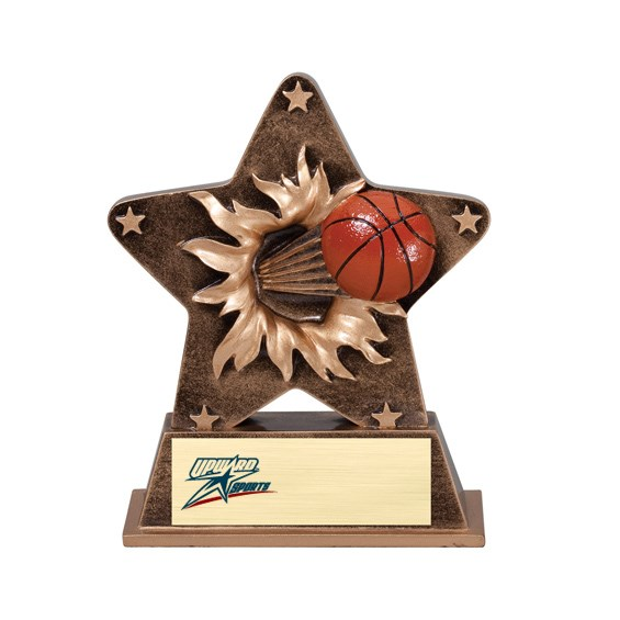 5 1/4 in Starburst Resin Basketball Trophy