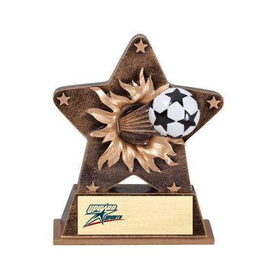 """5-1/4"""" Starburst Resin Soccer Trophy"""