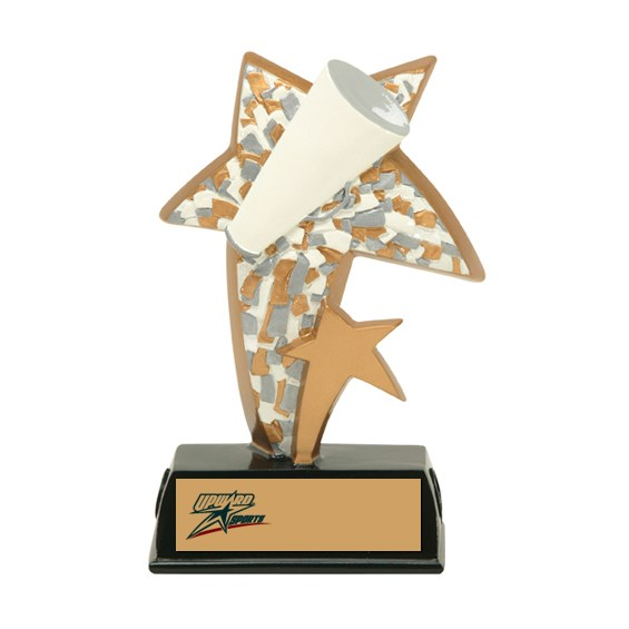 "6"" Color Resin Sports Star Cheerleading Trophy"