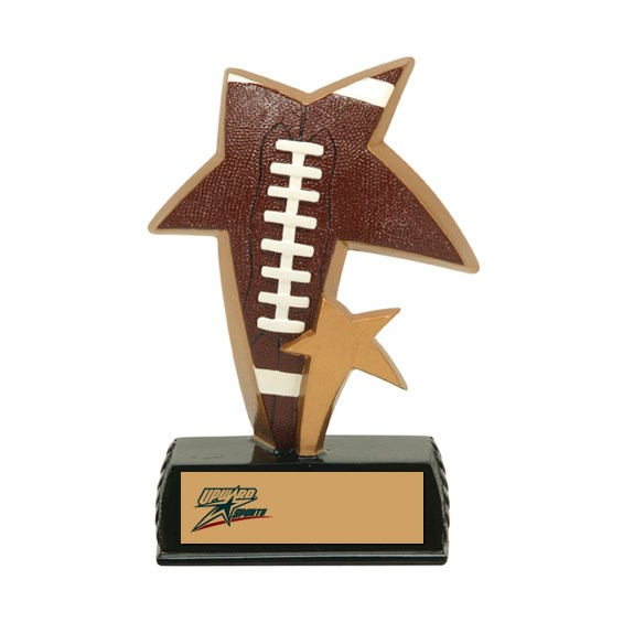 "6"" Color Resin Sports Star Football Trophy"