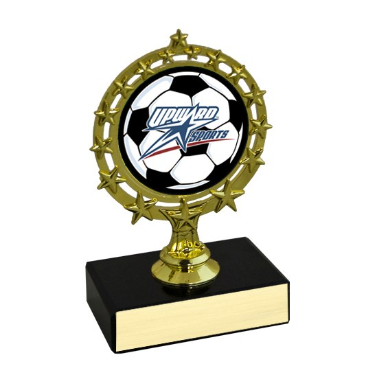 "4-3/4"" Star Circle Soccer Trophy"