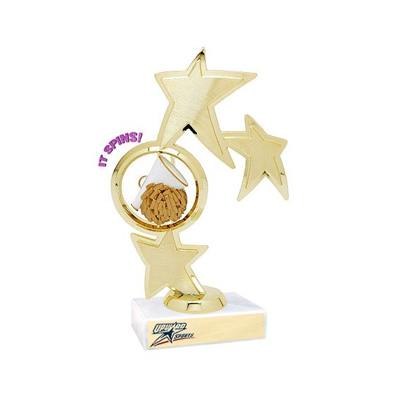 "8.75"" Spinning Cheer Theme Trophy"