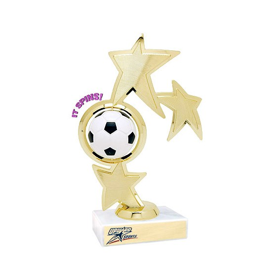 8.75 in Spinning Soccer Theme Trophy