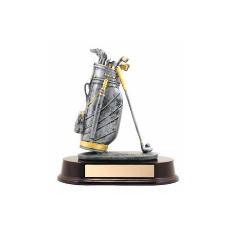 "Golf Bag Trophy 7.5"" Tall"