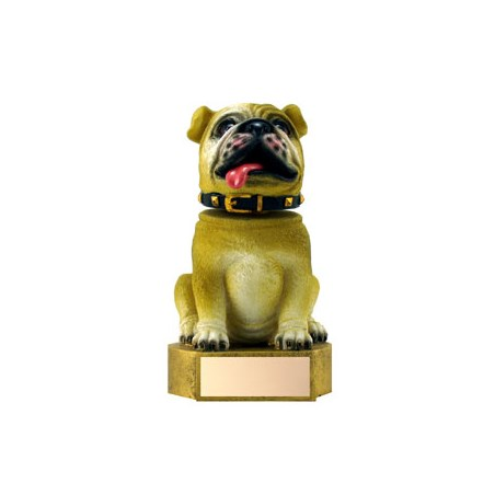 "6"" Brown Bulldog Mascot Bobble Head"